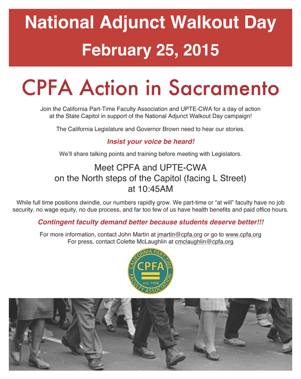 National Adjunct Walkout Day Action in Sacramento