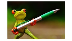 frog-armed-with-pen